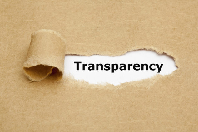 Banner about transparency